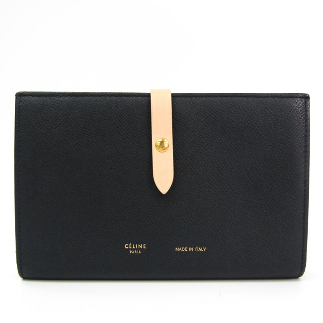 Céline Black / Light Beige Strap Large Multifunction 104873 Women's Calfskin (Bi-fold) Wallet Céline Black / Light Beige Strap Large Multifunction 104873 Women's Calfskin (Bi-fold) Wallet Image 1