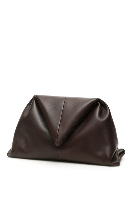 Item - Sn Triangle Envelope Brown Leather Clutch