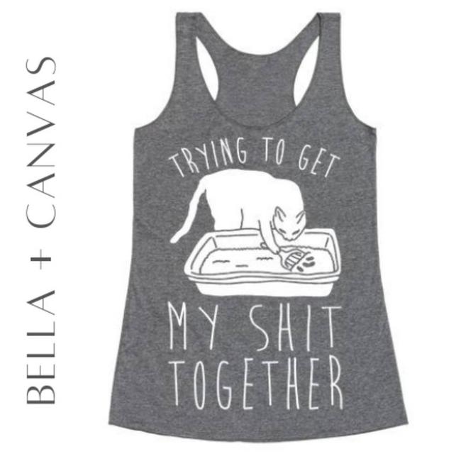 Item - Gray Trying To Get My Sh*t Together Tank Top/Cami Size 10 (M)