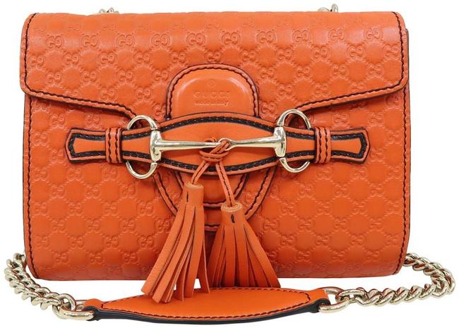 Item - Emily Shoulder Chain Wallet New ssima Gg Orange Leather Cross Body Bag