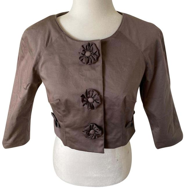 Item - Brown Tan Cropped Jacket Size 4 (S)