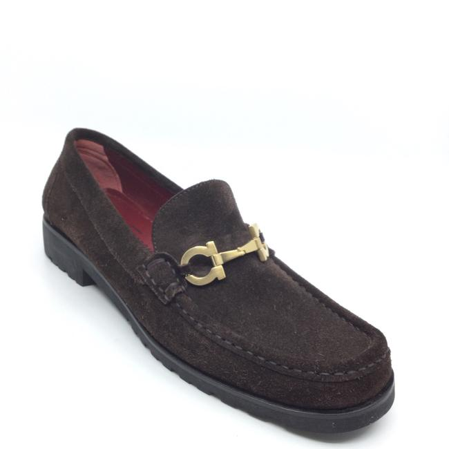 Item - Brown Suede Horse Bit Classic Loafers Flats Size US 7.5 Regular (M, B)