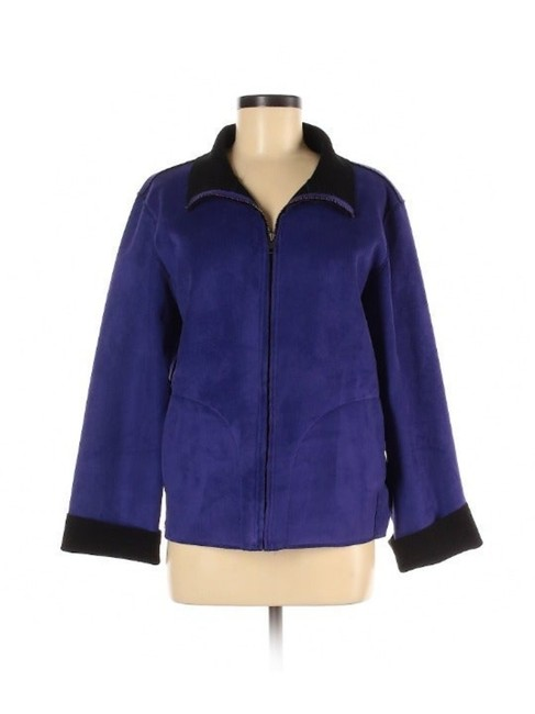 Item - Purple/Black Microsuede Reversible Jacket Size 10 (M)