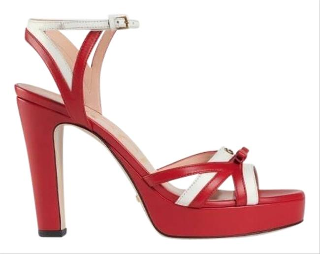 Item - Gg Bow Strappy Platform Sandals Size EU 37 (Approx. US 7) Regular (M, B)
