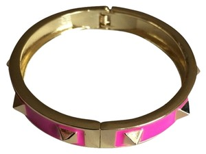 BaubleBar BAUBLEBAR HOT PINK STUDDED BANGLE