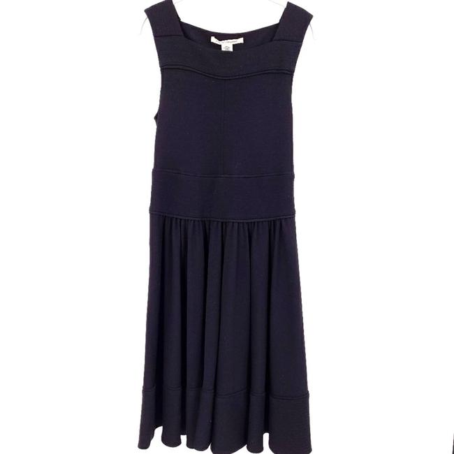 Item - Black Jersey Dvf Wool Circle Skirt Pockets Mid-length Short Casual Dress Size 6 (S)