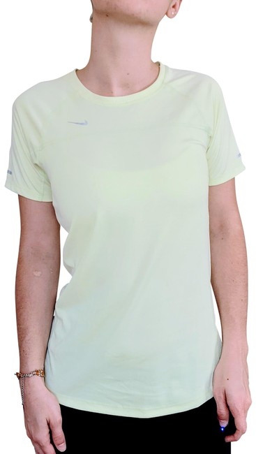 Item - Yellow Running Dri-fit T-shirt Neon Activewear Top Size 4 (S)