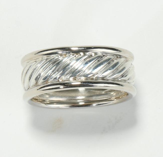 Item - Silver Cable Classic Ring Men's Jewelry/Accessory