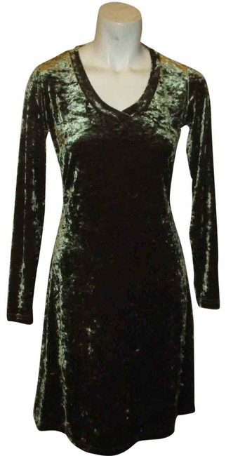 Item - Green Stretchy Crushed Velvet Short Night Out Dress Size 2 (XS)