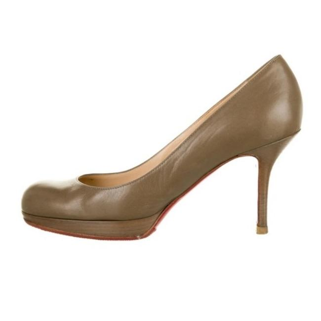 Item - Red Gray Leather Wooden Heels Pumps Size EU 39 (Approx. US 9) Regular (M, B)