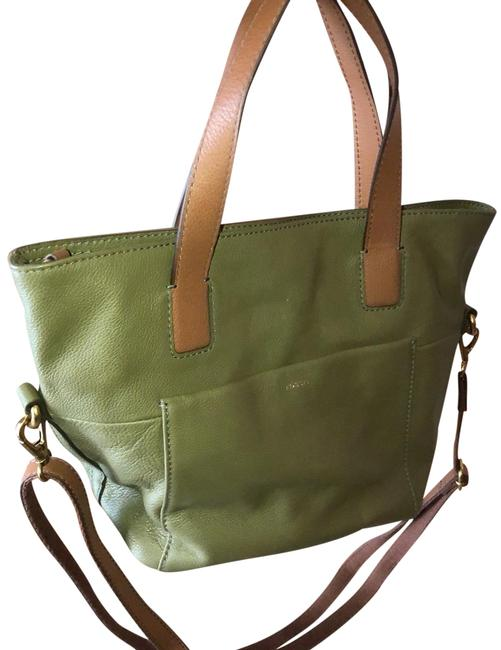 Item - Bag Small Green Leather Tote