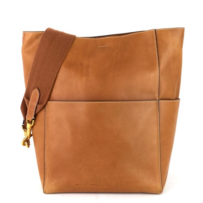 Item - Sangle Large Natural Brown Calfskin Leather Tote
