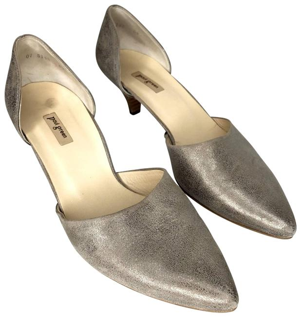 Item - Silver Julia D'orsay Kitten Heels 11/ Career/ Kitten Heels Pumps Size US 11 Regular (M, B)