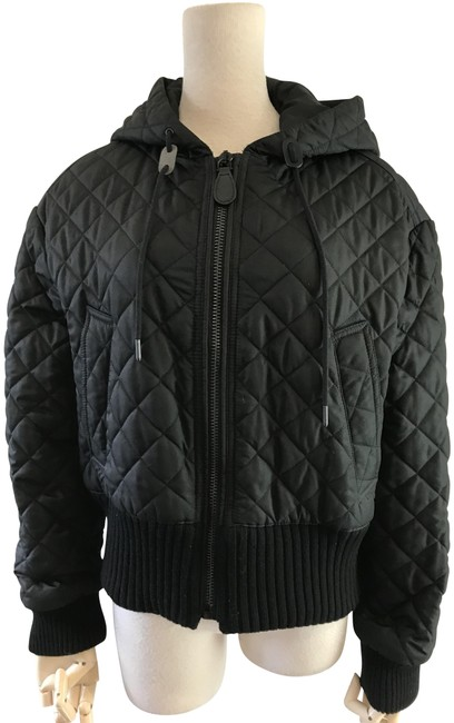 Item - Black Diamond Quilted Bomber Jacket Size 4 (S)