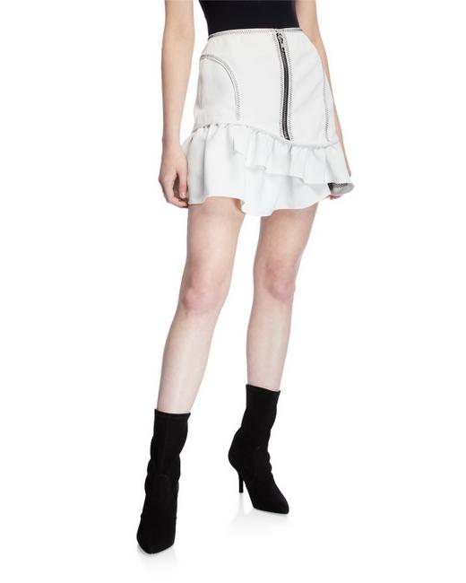Item - White Front Exposed-zip Skirt Size 10 (M, 31)