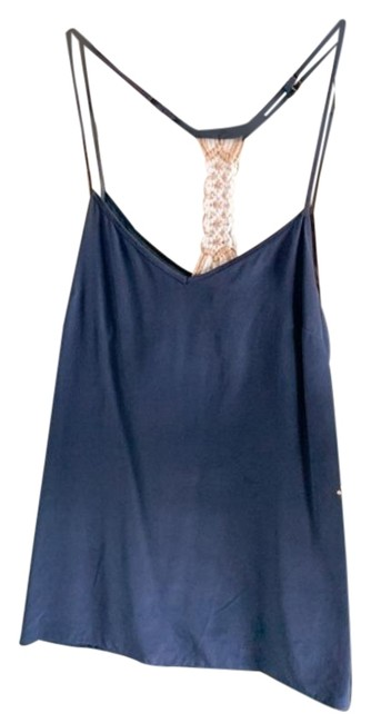 Item - Blue Gold Navy Braided Back Tank Top/Cami Size 00 (XXS)