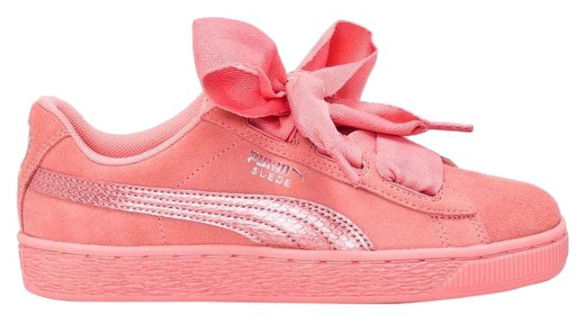 Item - Pink Suede Heart Color: Salmon 7-7.5 Sneakers Size US 7 Wide (C, D)