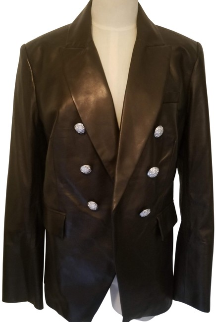 Item - Black Dickey Moto Jacket Size 10 (M)