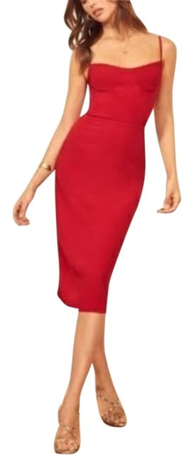 Item - Cherry Red Isabel Mid-length Cocktail Dress Size 12 (L)