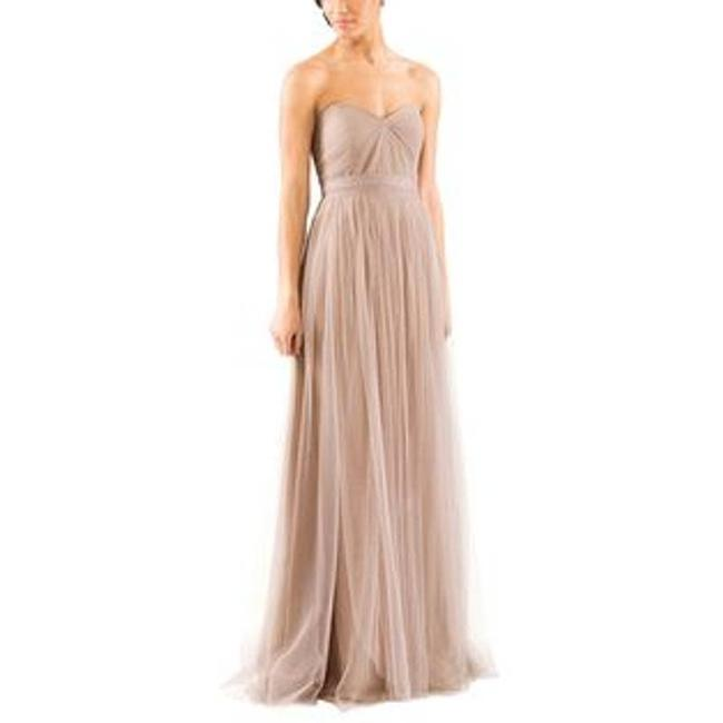 Item - Gray Annabelle Convertible Mink Column Women's Formal Bridesmaid/Mob Dress Size 8 (M)