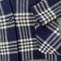 Pendleton Blue Collarless Plaid Virgin Large Coat Size 12 (L) Pendleton Blue Collarless Plaid Virgin Large Coat Size 12 (L) Image 3