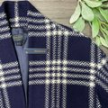 Pendleton Blue Collarless Plaid Virgin Large Coat Size 12 (L) Pendleton Blue Collarless Plaid Virgin Large Coat Size 12 (L) Image 4