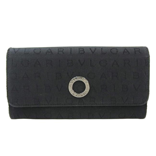 Item - Black Logo Mania Bi-fold Canvas Wallet