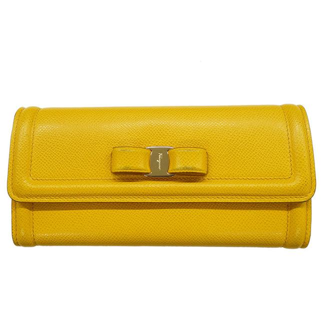 Item - Yellow Vala Ribbon Purse Leather Ladies Wallet