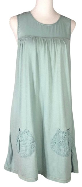 Item - Light Aqua Green Spencer Velvet By Graham & Short Casual Dress Size 8 (M)
