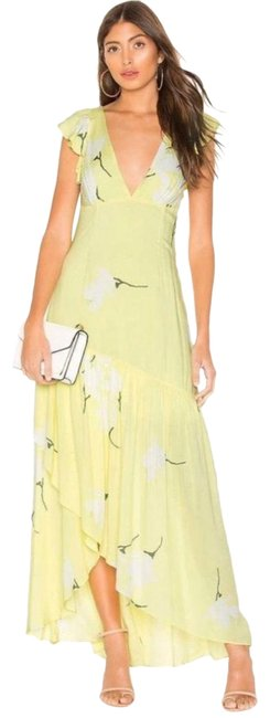 Item - Yellow She's A Waterfall High/Low In Long Casual Maxi Dress Size 4 (S)