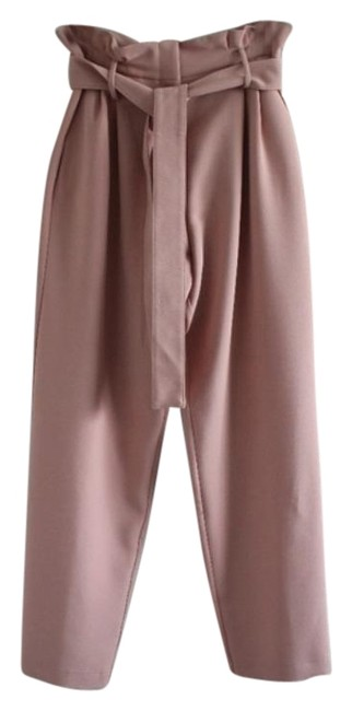 Item - Rose Pink Belted High Waisted Paperbag Pants Size 16 (XL, Plus 0x)