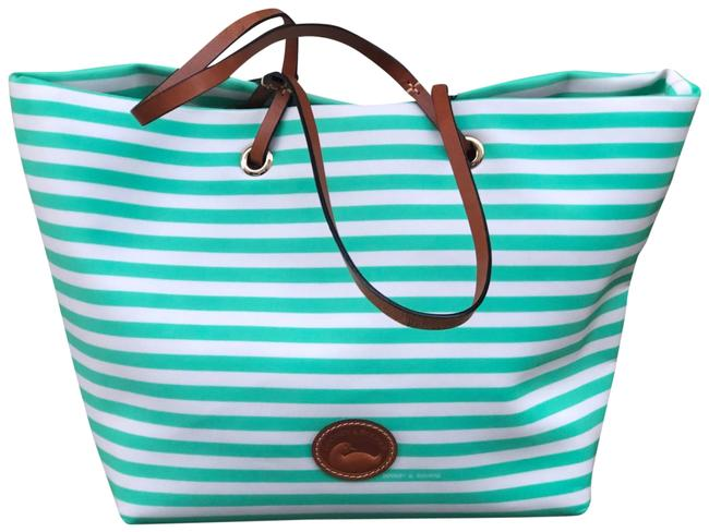 Item - Sena-addison Striped Style #bsulv1347 Green Leather Tote