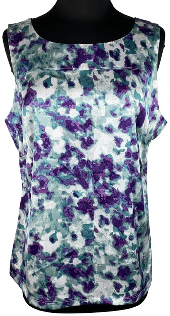 Item - Multicolor L Patterned Front Sleeveless Tank Top/Cami Size 12 (L)
