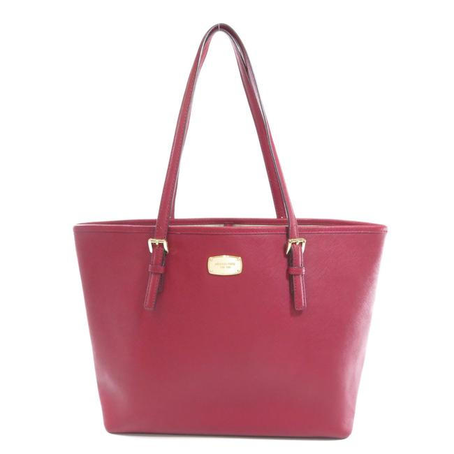 Item - Bag Logotype Ladies Red Color Leather Tote
