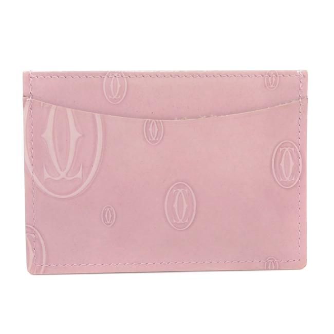 Item - Pink Happy Birthday Pass Case Card Leather Ladies Wallet