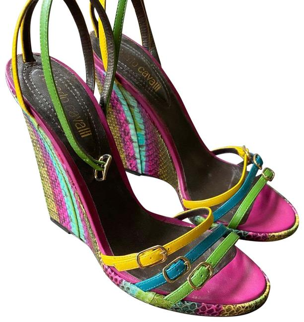 Item - Pink/Yellow/Green Zeppa Ayers Multicolor Pumps Size US 8.5 Regular (M, B)