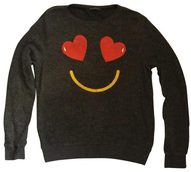 Item - Gray/Charcoal Smiley Face Sweatshirt/Hoodie Size 8 (M)