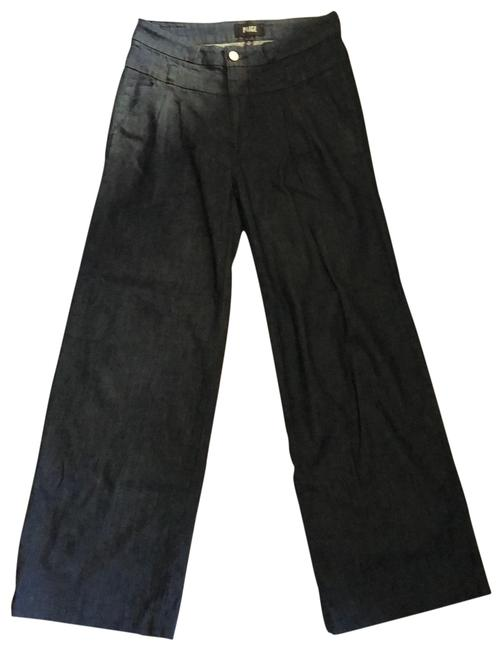 Item - Dark Denim Rinse Pleated Trouser/Wide Leg Jeans Size 4 (S, 27)