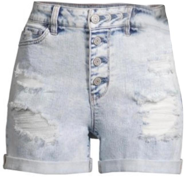 Item - Light Wash High Rise Denim Shorts Size 20 (Plus 1x)
