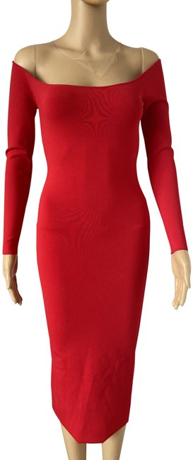 Item - Red 1kc2196114 Long Cocktail Dress Size OS (one size)