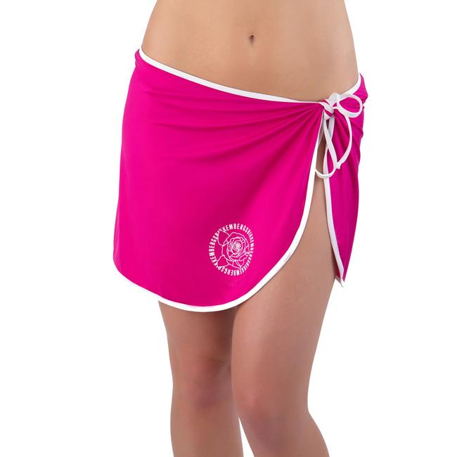 Item - Pink Designer Beach Self-tie Pareo Skirt Cover-up/Sarong Size OS (one size)