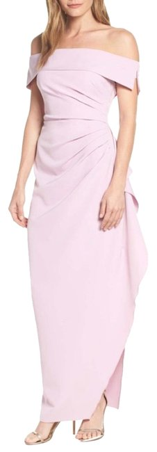 Vince Camuto Lilac Ruched Off Shoulder Gown Long Formal Dress Size 12 (L) Vince Camuto Lilac Ruched Off Shoulder Gown Long Formal Dress Size 12 (L) Image 1
