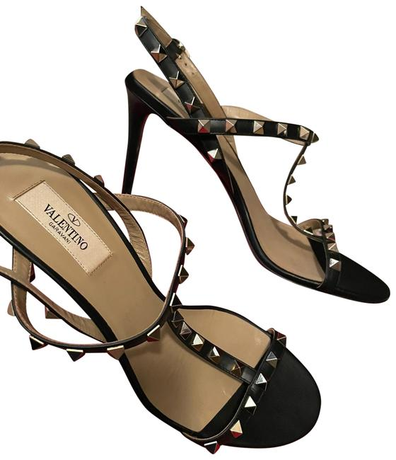 Item - Black and Silver Studs Sandals Size US 8.5 Regular (M, B)