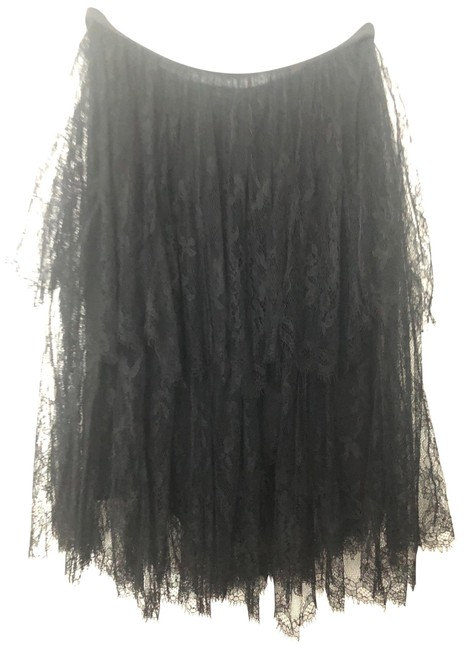 Item - Black Tiered Lace Skirt Size 6 (S, 28)