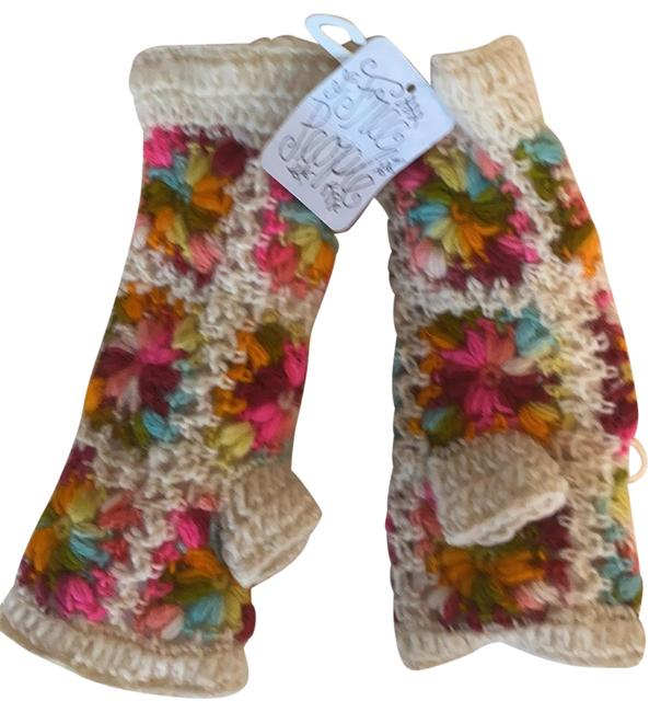 Item - Multi-colored Hand-knitted Wool Gloves