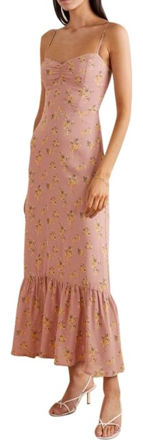 Item - Dusty Pink Emersyn Floral Ruffle Hem Long Casual Maxi Dress Size 10 (M)