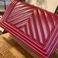 Chanel Boy Chevron Red Lambskin Leather Shoulder Bag Chanel Boy Chevron Red Lambskin Leather Shoulder Bag Image 8