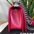 Chanel Boy Chevron Red Lambskin Leather Shoulder Bag Chanel Boy Chevron Red Lambskin Leather Shoulder Bag Image 4