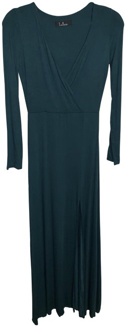 Item - Green Wishing Well Forest Maxi Long Formal Dress Size Petite 8 (M)