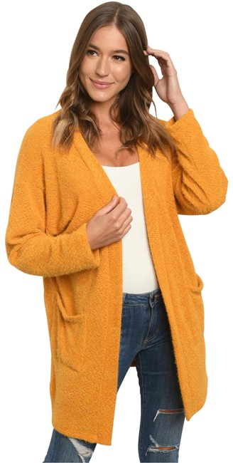 Item - Mustard Yellow Soft Open Front with Pockets Cardigan Size 8 (M)